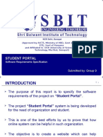 SRS Of Student Portal