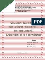 Guion Libreto de Obra Teatral (Singular).Arte Medieval. Grupo #3