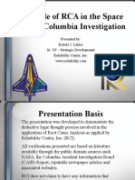 RCA in the Space Shuttle Columbia Investigation 2003