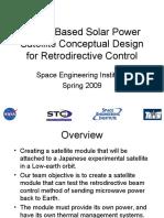 SEI Spring 2009 Space Based Solar Power Presentation