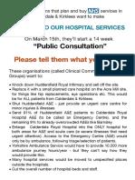 Beware the dodgy hospital cuts consultation