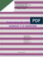 GUION MICRO de RADIO.grupal. Arte Medieval. Grupo #3