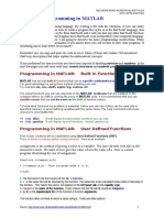 MEC500 Programming in MATLAB