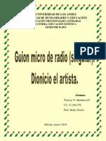 Guion de Micro de Radio. Singular. Arte Medieval. Grupo #3