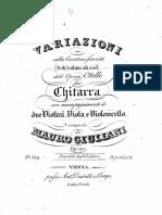 Giuliani - op 101, Variazioni - opera Otello, cht + sq