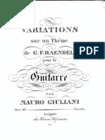 Giuliani - Op 107, Variations - Haendel