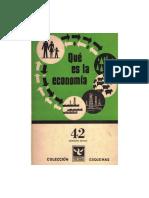 Que Es La Economia -Valsecchi