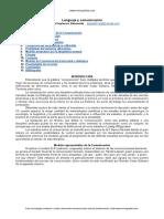 Comunicacion-lenguaje - Modelo Representativo de La Comunicacion