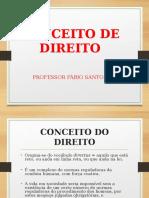 CONCEITO DO DIREITO