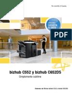 Km Bizhub c552 c652ds Ds Es