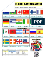 Countries and Nationalities - Worksheet 1