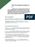 Role Du Charge Du Projet
