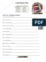 Countries and Nationalities - Worksheet 2