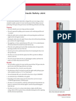 Below Packer Hydraulic Safety Joint