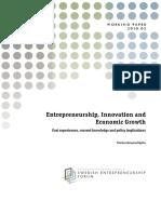 Entrepreneurship, Innovation and Economic Growth