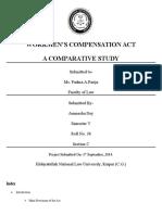 Workmen's Compensation Act, 1923- A Detailed Study Aunnesha Dey Sem 5 Labor Law Sec C 38 (2)