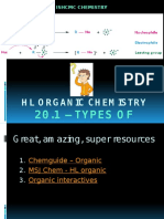 HL Organic 1 - Types of Reactions