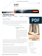 Essay on Pollution for Kids, Children and Students