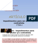 Art Nº 11 Impedimentos Literal d