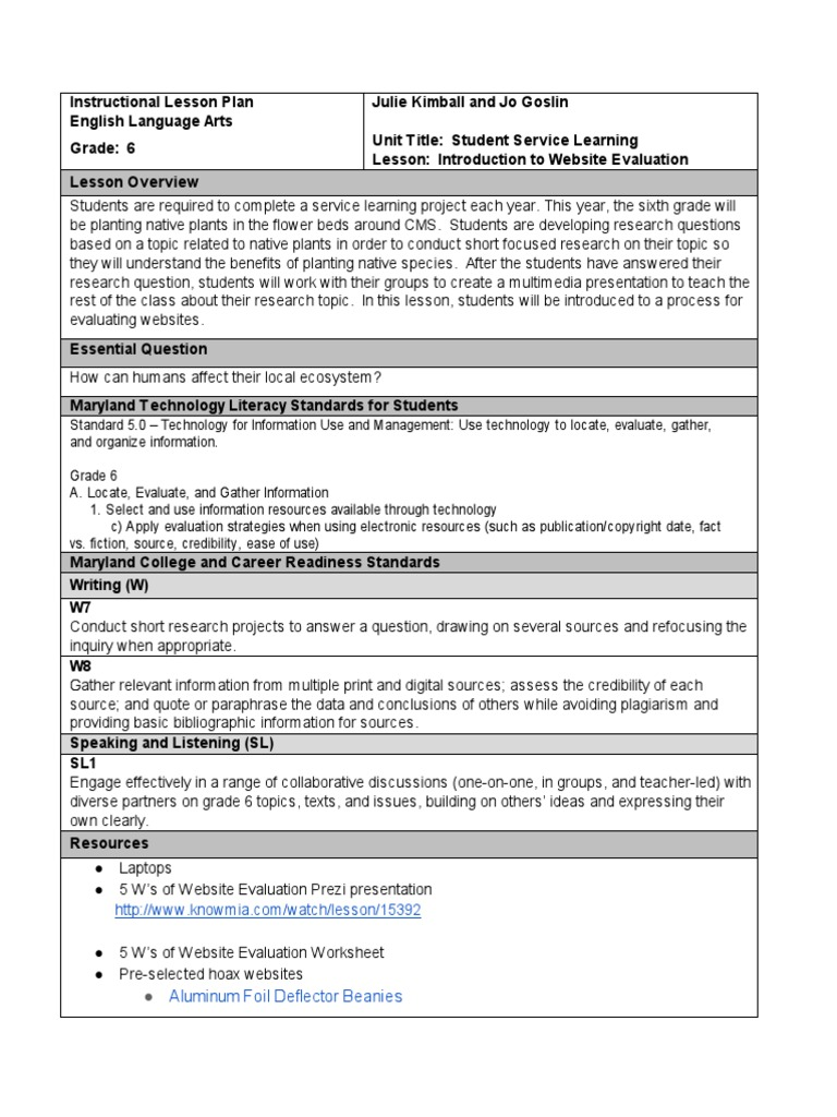 Worksheets Website Evaluation Worksheet introduction to website evaluation websites