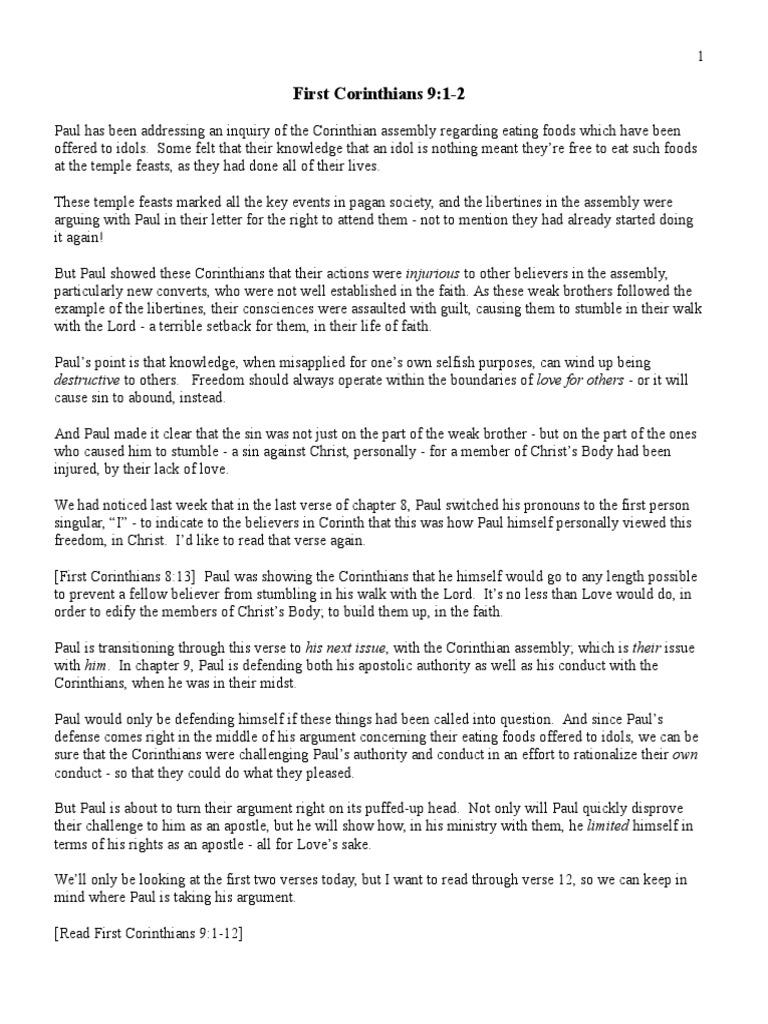 1 Cor 034 9A esc | Paul The Apostle | Acts Of The Apostles
