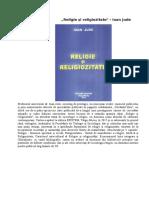 RELIGIE ȘI RELIGIOZITATE