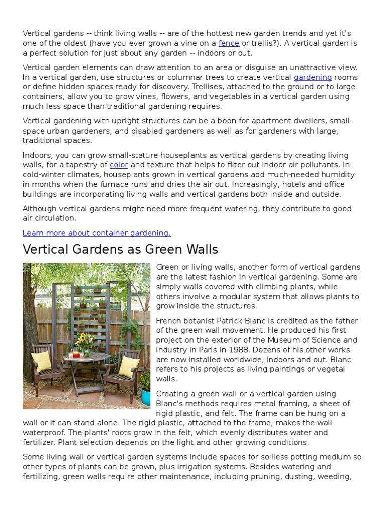 Vertical Gardens   Gardens   Plants