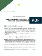 Origen y comienzos de la iglesia segun el NT.pdf