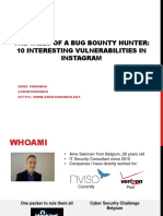10 Interesting Vulnerabilities in Instagram Arne Swinnen