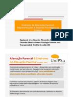 Síndrome de Alienação Parental.Representações & Impacto Psicológico na Criança
