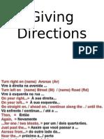 9º e 8º Giving Direction