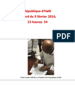 Accord du 5 février 2016 Martelly, Privert, Chancy
