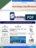 Site da Soldagem atinge 8000 acessos