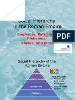 social hierarchy roman empire