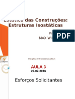 Estruturas Isostáticas - Aula 3 2016-1