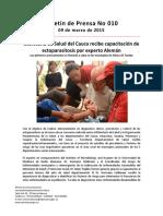 Boletín 010 Secretaría de Salud Del Cauca Recibe Capacitación de Ectoparasitosis Por Experto Alemán