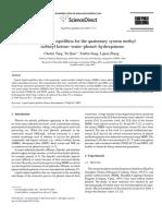 Liquid–liquid equilibria for the quaternary system methyl isobutyl ketone–water–phenol–hydroquinone