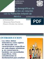 Características Demográficas de Salud y Educación en Relación