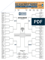 2016 NCAA Tourney Bracket