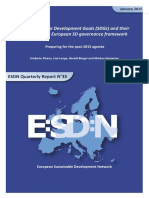2015-January-The Sustainable Development Goals (SDGs) and Their Impact on the European SD Governance Framework