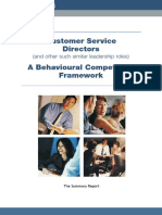 Glowinkowski Customer Service Directors - Behavioural Competency Framework