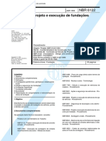 NBR 06122 - 1996 - Projeto e Execucao de Fundacoes