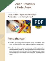 Pemberian Transfusi Darah Pada Anak.pptx