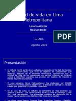 Calidad Devid a en Lima Metropolitan A
