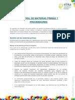 4.1.Control de Materias Primas y Proveedores