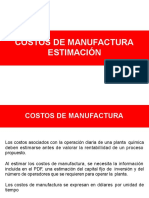 3. Costos de Manufactura