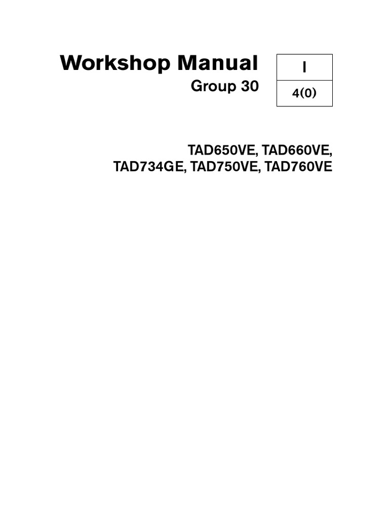 workshop manual gp 30 volvo penta tad760ve pdf fuel injection rh scribd com Volvo Penta 275 Outdrive volvo penta d1-30 workshop manual