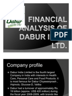 Financial Analysis of Dabur Industries Pvt