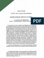 Eckhart, Proclus Et Boéce - Du Statut Des Prologues Dans l'Axiomatique Néoplatonicienne