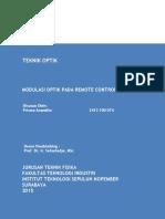 Tugas 1 - Contoh Modulasi Optik pada Remote control IR